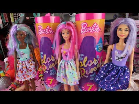 НОВИНКА Барби Меняющая Цвет Распаковка Обзор Рассекретить Барби BARBIE COLOR REVEAL Hack Каролина