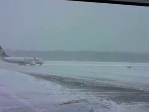 plane winter show on ice siberia