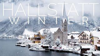 AUSTRIA 4K • Winter in Hallstatt Village & Piano Relaxing Music • Relaxation Film