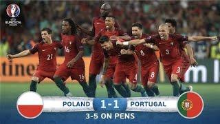 Polônia 1 x 1 Portugal - Melhores Momentos -  30/06/2016 EURO 2016