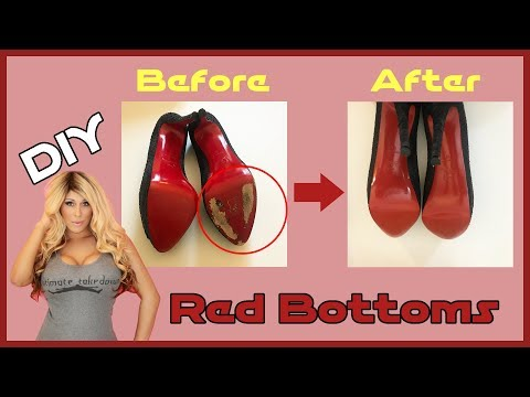 Christian Louboutin Fix - How To Touch Up Red Bottoms - DIY Red Bottoms & Inspired Heels