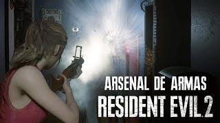 RESIDENT EVIL 2 Remake - Incrível Arsenal de Claire e Leon na Campanha! (PC Gameplay)