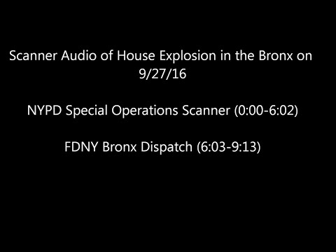 NYPD and FDNY Radio of 9/27/16 House Explosion