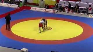 阿部梨乃(日大)10-9で新海真美(アイシン・エィ・ダブリュ)に勝利 女子72kg級 一回戦 20130616