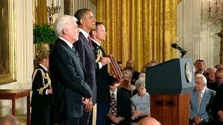 Ellen DeGeneres Being Awarded The Presidential Medal of Freedom From President Obama