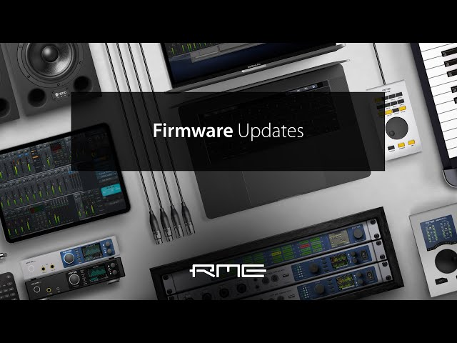 Firmware Updates for RME Audio Interfaces