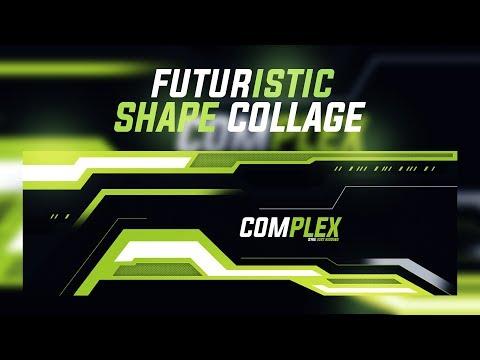Photoshop Tutorial: Futuristic Shape Collage Banner Design