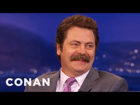 Nick Offerman: Manscaping Is An Abomination   CONAN on TBS