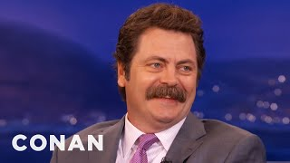 Nick Offerman: Manscaping Is An Abomination  - CONAN on TBS