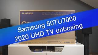 Samsung 50TU7000 4K UHD TV (2020) unboxing