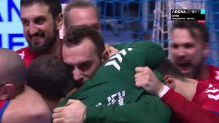 RUKOMET: Francuska - Srbija 26:26 Odbrana Vladimira Cupare na kraju utakmice