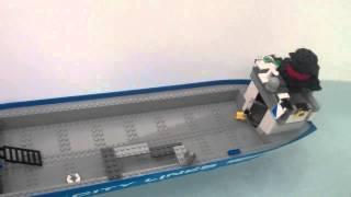 Lego cargo ship sinking
