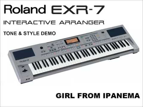 Roland EXR-7 demo (tone & style) – 15 short songs