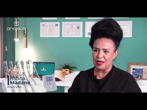 السيدة رابحة أتت من أميركا لإجراء زراعة الأسنان وابتسامة هوليود في تركيا