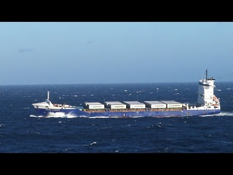 Ship HELENA SCHEPERS in storm at Cape Finisterre | 03.05.2016
