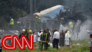 Plane crashes at airport in Havana, Cuba