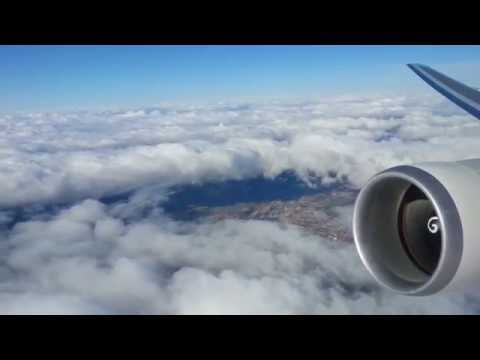Mongolian airlines Boeing 767-300ER take off from Ulaanbaatar to Seoul