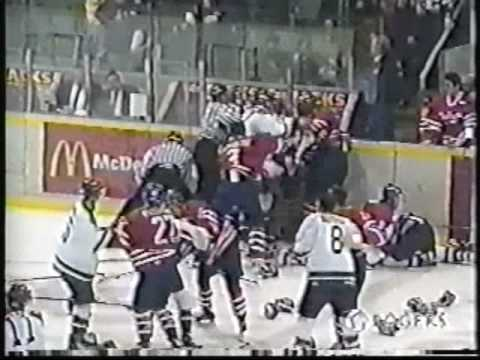 INSANE OHL brawl: Oshawa vs London 1/28/00