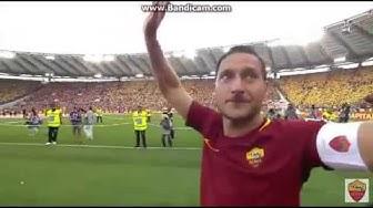 Francesco Totti nimmt Abschied! Eine Legende tritt ab.