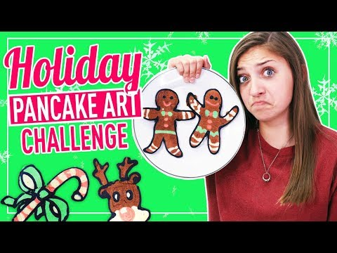 Holiday Pancake Art Challenge with Kenni! FAB or FAIL?