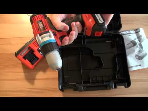 unboxing Black and Decker 14.4v lithium drill driver
