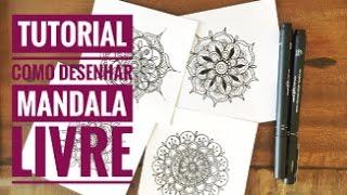 Como Desenhar Mandala Livre | 01