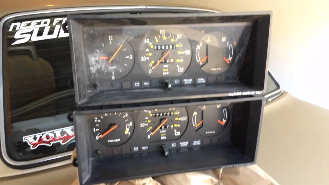 1988 volvo 244/240 tachometer install