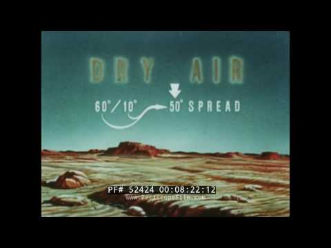 "WORLD WAR II  WALT DISNEY U.S. NAVY  ""THEORY OF FOG FORMATION""  MOVIE  52424"
