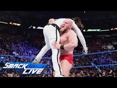 Lars Sullivan bulldozes over R-Truth: SmackDown LIVE, April 16, 2019
