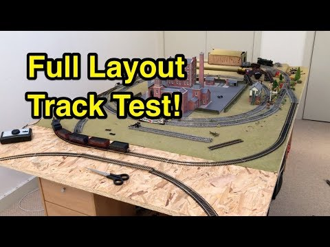1st Test of My Full Model Railway Layout!