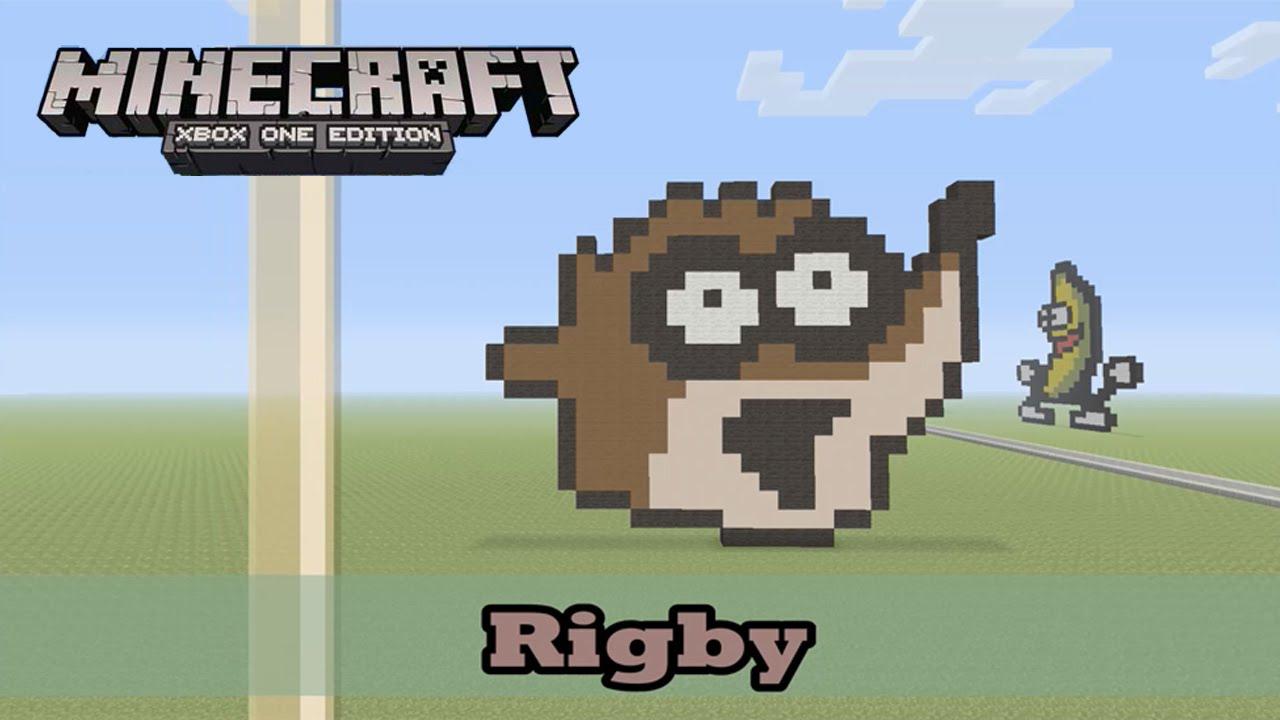 Minecraft: Pixel Art Tutorial and Showcase: Rigby from ...  Minecraft