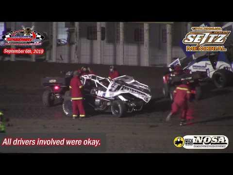 River Cities Speedway NOSA Sprint Car A-Main (13th Annual John Seitz Memorial) (9/6/19)