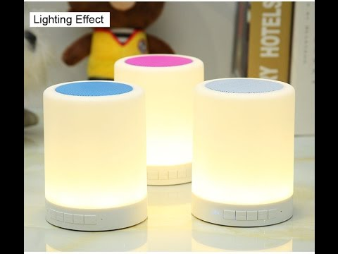 Smart LED Bluetooth Music Lamp Touch Micro JBL07 A2OP Call Headset from china