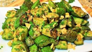 КАБАЧКИ ЖАРЕНЫЕ.  Наивкуснейший салат из кабачков.  (Fried Zucchini)