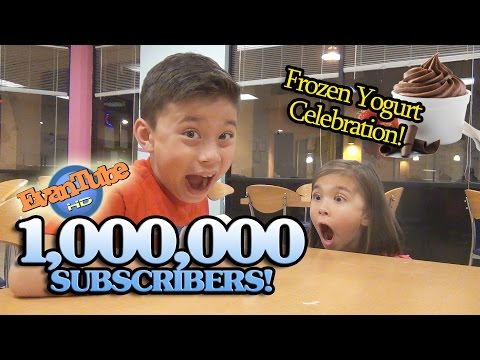 EvanTubeHD 1,000,000 SUBSCRIBERS Frozen Yogurt Celebration! FroYo!