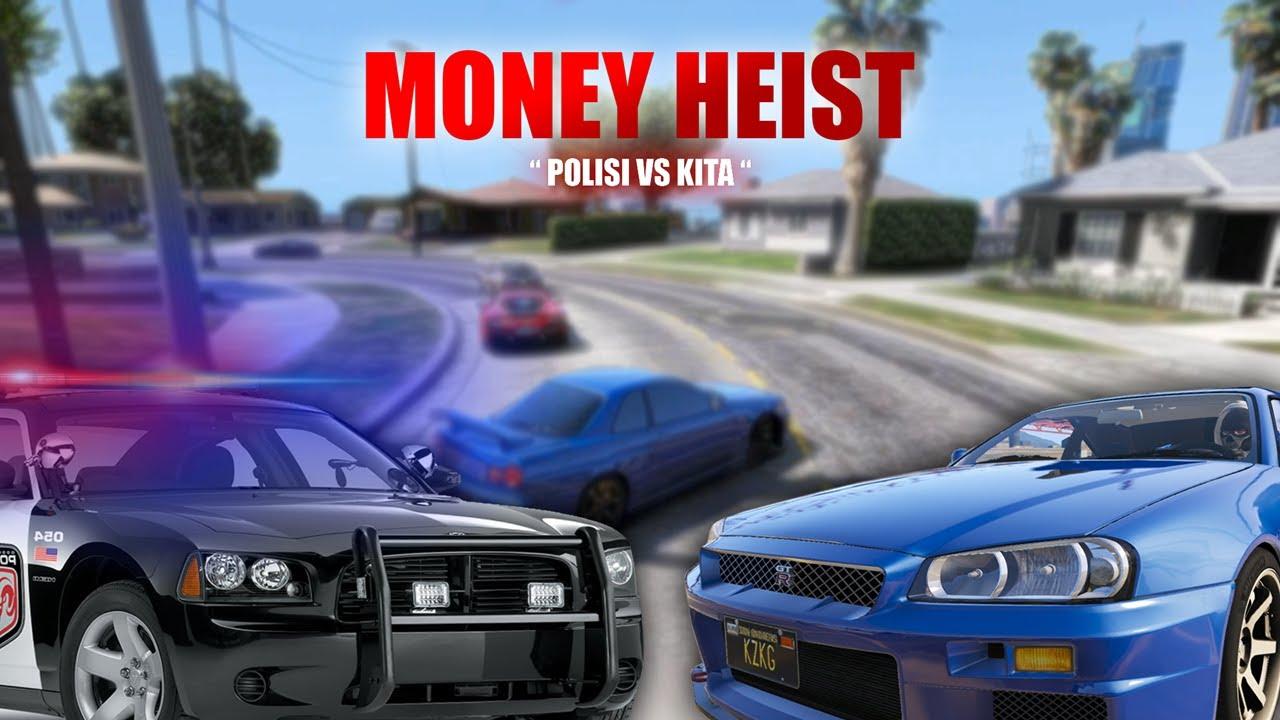 "MONEY HEIST EP6 "" POLISI VS KITA "" || GTA V ROLEPLAY"