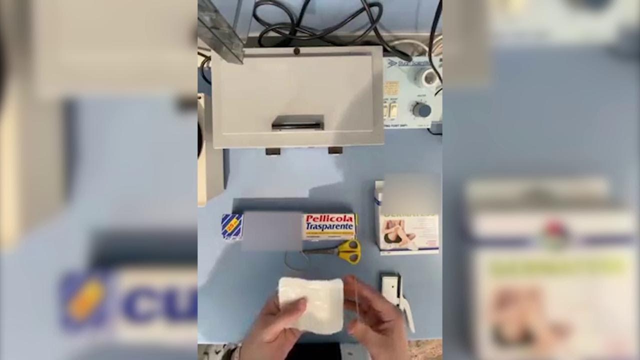 mascherina antivirus fai da te carta forno
