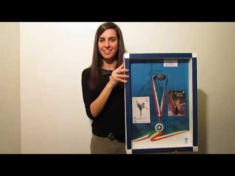 Valentina Marchei testimonial Medal In Frame