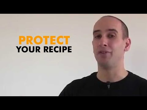 Recipe Ideas - How to protect your recipe