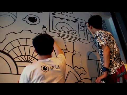 DWS Doodle Wall Art @ Semanggi Cafe - Ruko Centre Point Medan