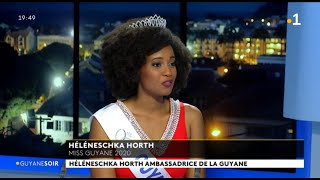 Héléneschka Horth , Miss Guyane 2020 Est L'invitée Du Guyane Soir