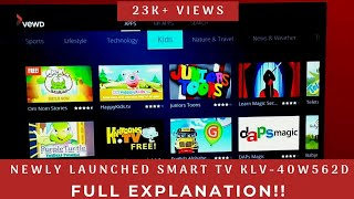 Detailed Explanation of features Sony Bravia KLV- 40W562D Smart TV(40 Inches)