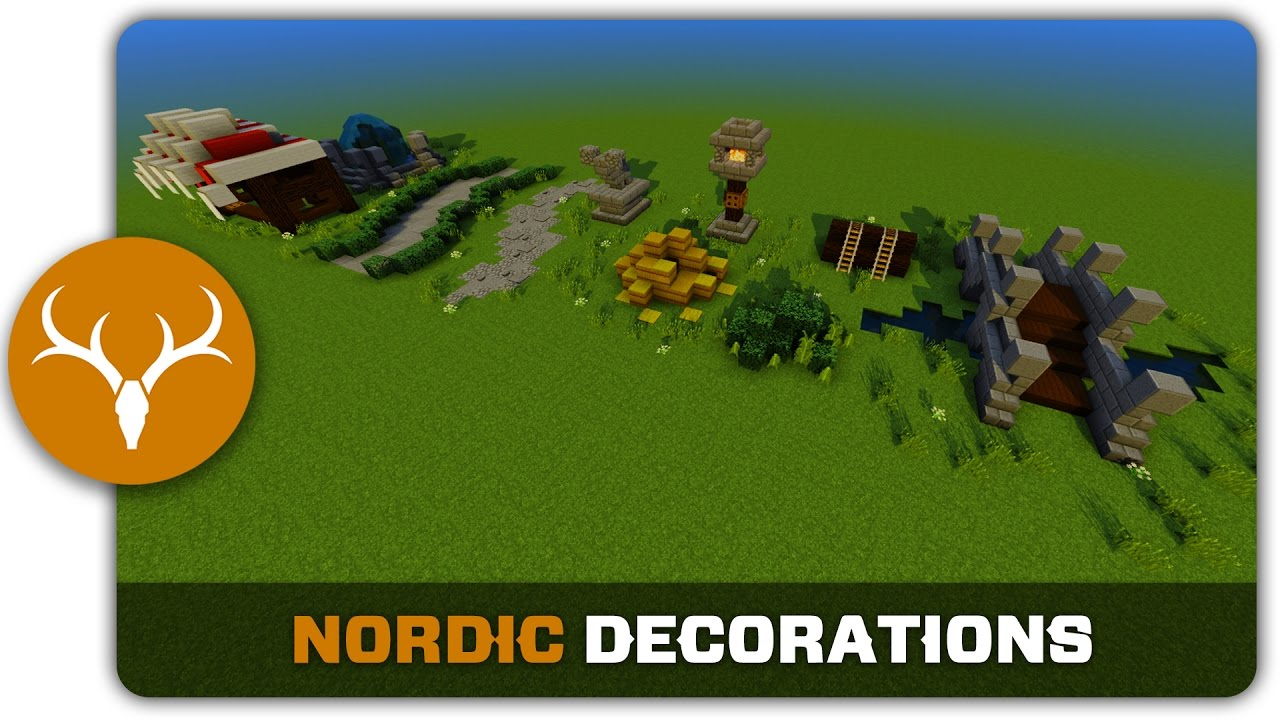 Minecraft Building Tutorial : How to build Nordic Town ...