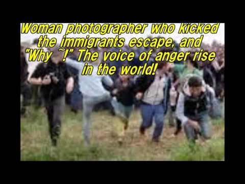 """Kick the can """"Why it ~!"""" Woman photographer flee immigration. Voice of anger in the world!"""
