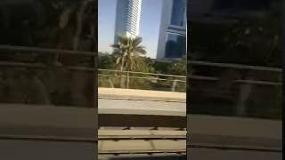 Dubai Emirates Tower from Metro