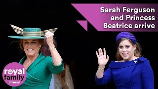 Princess Beatrice and Sarah Ferguson arrive for royal wedding
