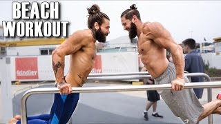 One of Lex Fitness's most viewed videos: BEARDED BAR BROTHERS | Beach Body | HOW TO DO MUSCLE UP WORKOUT (Part 7) | Lex Fitness