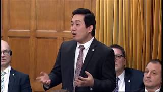 MP Shaun Chen - Question on Agricultural Trade to Minister Lawrence MacAulay - Nov 27, 2017