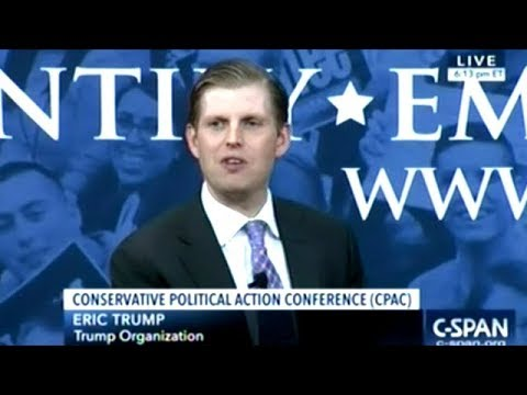 """Eric Trump """"You Know My Father Made A Terrible Sacrifice Running!"""""""