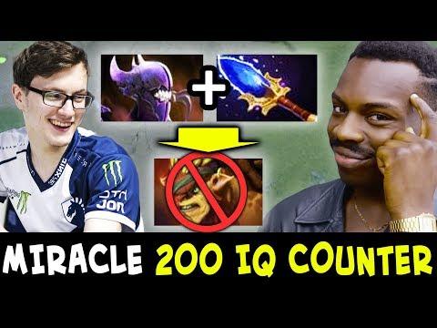 Miracle 200 IQ COUNTER to Bristleback — Bane + Aghanim
